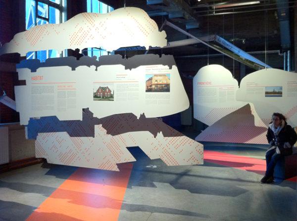 Graphisme de l'exposition Paysage d'Ici au PASS